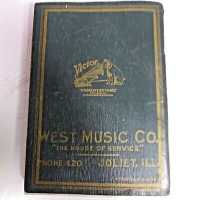 Victor Records May 1918 Catalog With Biographies Opera Plots & Red Seal Vintage