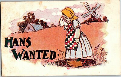 Vintage Postcard Hans Wanted