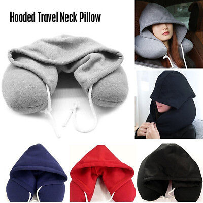Uk Soft Comfortable Hooded Neck Travel Pillows U Shape Airplane Pillow Hoodie