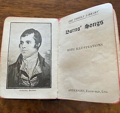 Vintage Burns Song Book With Illustrations