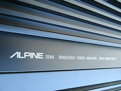 * Alpine * 3544 * Bridgeable Power Amplifier *
