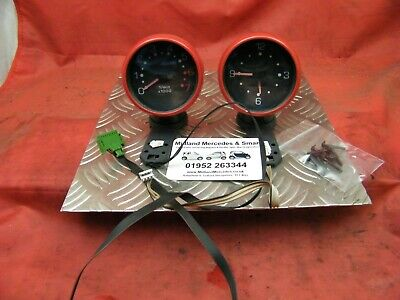 Smart Car 450 Fortwo 1998-2007 - Dash Mounted Rev Counter & Time Clock Set