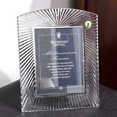 "Waterford Millennium Crystal 5"" X 7"" Picture Frame 5X7 New With Box"