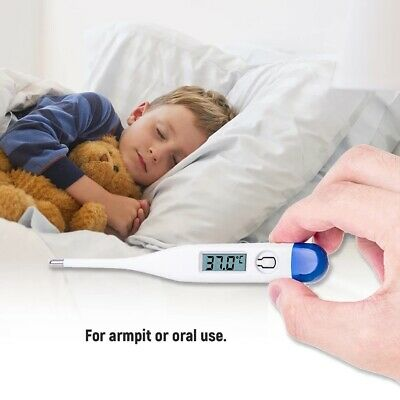 Digital LCD Thermometer Baby Adult Kids Safe Body Ear Mouth Temperature