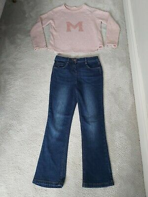 Girls Outfit 9-10 Years Next And George Jumper And Jeans
