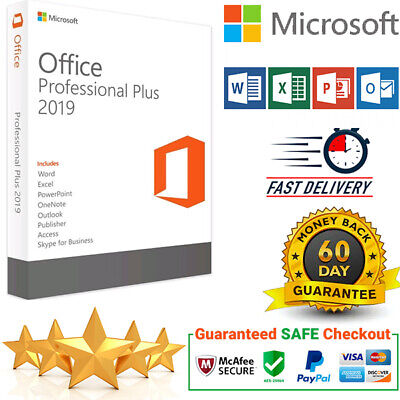 Microsoft Office 2019 Professional Plus 32/64 Bit License Key Instant Delivery