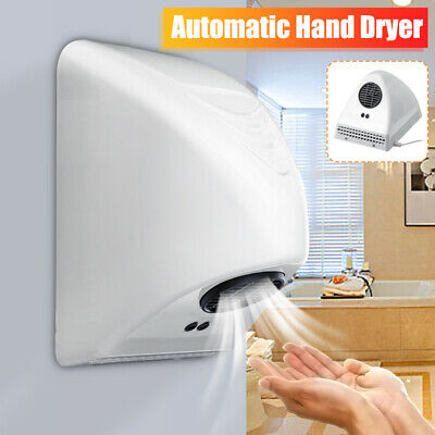 Automatic Infared Sensor Hand Dryer Bathroom Hotel Hands Drying Device White