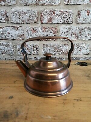 Small Copper 1/2 Camping Kettle With Movable Handle Vintage Antique Retro