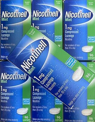 Nicotinell Mint Lozenges 1mg Pack Of 96X7=672 Pieces Stop Smoking Last One 25%of
