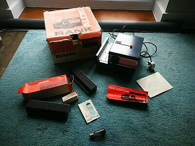 Vintage Rank Aldis 2000 Slide Projector, Original Box + Simplex Screen