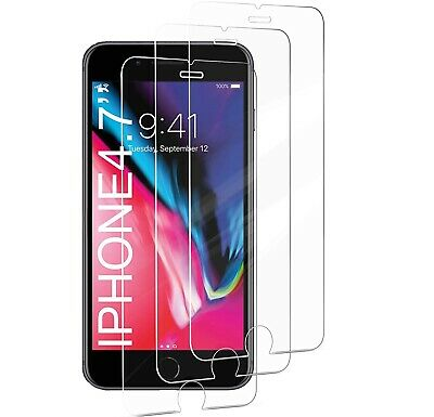 """3-Pack iPhone 6 / 7 / 8 / 6S Tempered GLASS Screen Protector Bubble Free 4.7"""""""