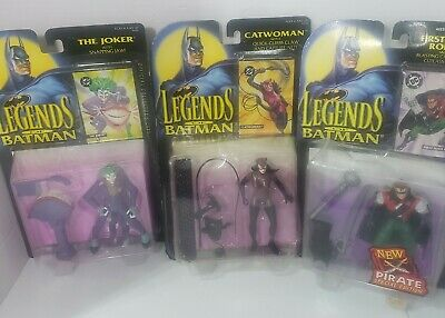 Kenner Legends Of Batman Action Figure Lot of 3 w/ Collector Cards 1994-95 NEW