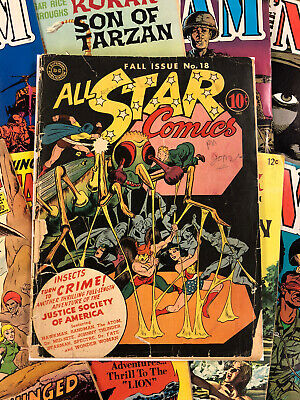 All Star Comics #18 FR/G 1.8 golden age 1943 DC Comics all-american CLASSIC