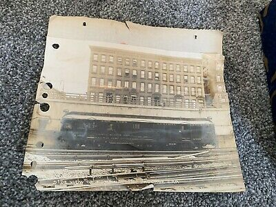 Old Photo New York Central Lines US Mail Railway Post Office Baggage Car RR