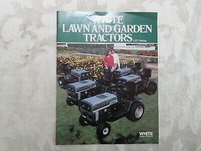 Nice White Lawn & Garden Tractors Sales Brochure 8 Pages