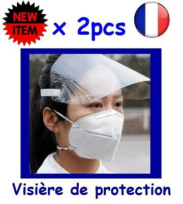 Lot de 2 - Visiére de protection masque anti projection - Stock en France