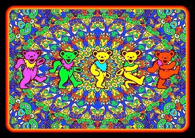 "5"" Grateful Dead Dancing Bears Mandala vinyl sticker. Decal 4 car, guitar laptop"