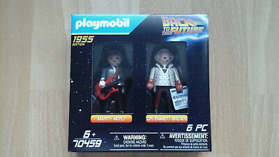 Playmobil Back To The Future Marty Mcfly Doc Brown 2 Pack New Rare 1955 70459