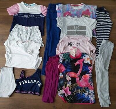 Massive Bundle Girls 11-12 Years Clothes Tops Shorts Leggings Etc