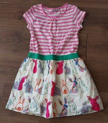 NEXT girls 10-11 Years Dress Bunny Striped Shirt Sleeve Age 11