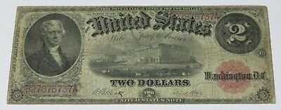 1917 $2 Two Dollars Horse Blanket United States Large Note