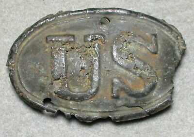 Very Rough Partially Melted U.S. Cartridge Box Plate Found in Central Virginia