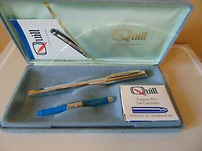 Vintage Quill Fountain Pen In Case