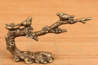 Rare chinese bronze hand carved fengshui tree statue tea pet home decoration