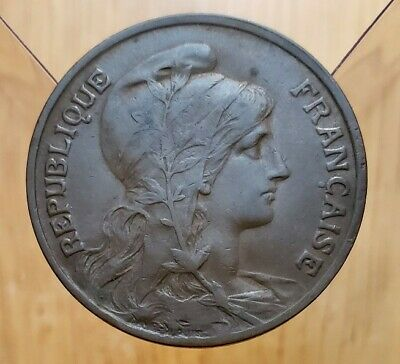 1908 France 10 Centimes World Coin