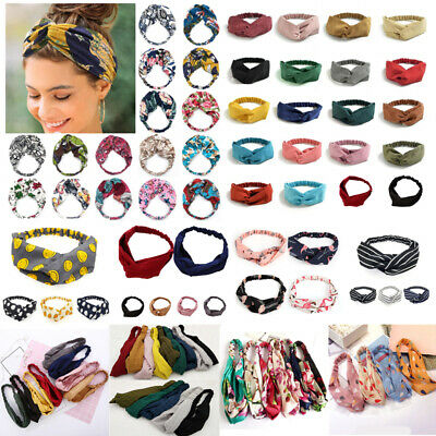 Women Cross Headband Cute Bowknot Hair Bands Girls Fabric Headwrap Accessories