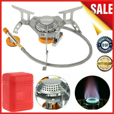 3000W Portable Outdoor Camping Hiking Gas Stove Folding Cooking Burner L7E9