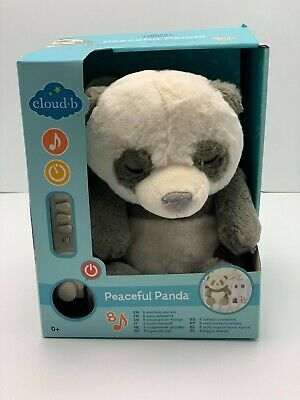 Cloud B Peaceful Panda New/Boxed Panda Bear as Stuffed Sleeping Aid with Sound