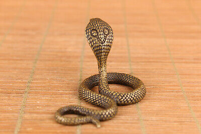 China old bronze hand cast snake statue figure collectable ornament