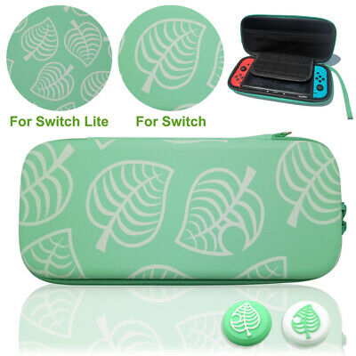Animal Crossing Carrying Case For Nintendo Switch/Lite Storage Bag with Grip Cap