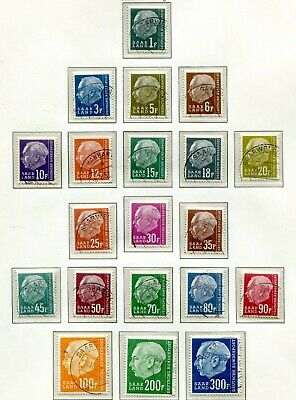 "(399) Very Good Set Saar 1957 ""F"" Issue Sg406 - Sg425 Lightly Cancelled"
