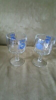 "Vintage ""Rare"" Miller Lite Beer Glass Goblet's (Set Of 2)"