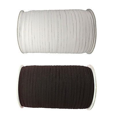 6mm Flat Elastic 5m Bungee Rope Shock String Stretchable Cord Dress Making Craft