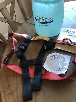 Kids Fly Safe Harness Amsafe Airplane Safety Red DVD Carry Bag