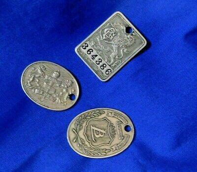 Gimbel Brothers GB Lit Bros LB, Frank & Seder Charge Coin Token Tag (3)