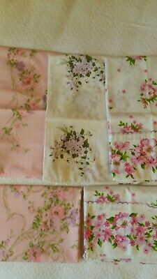 Vintage Pillowcases Pinks & Lavender Lot Of 5- 50/50