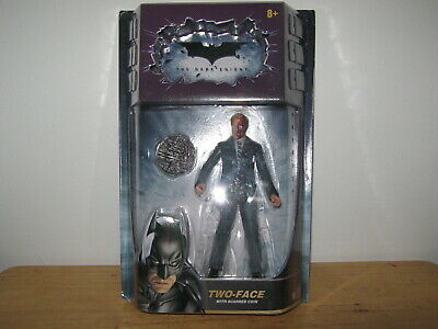 The Dark Knight Harvey Dent Two Face Figure w/ Scarred Coin DC Comics 2008 New
