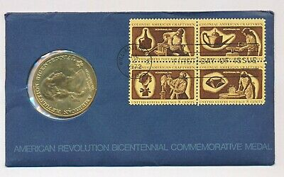 1972 Bicentennial First Day Cover With Medal American Revolution