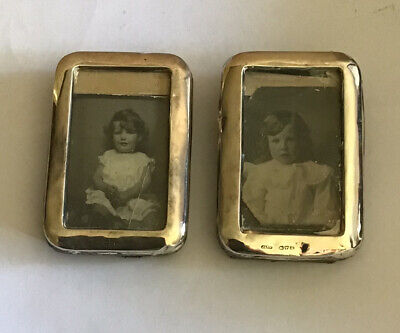Pair Of Sterling Silver Miniature Picture Frames