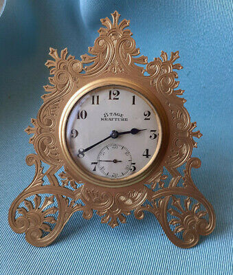 Superb 19th Century GILT BRASS STRUT CLOCK  8 day Movement GWO Manner of T. Cole