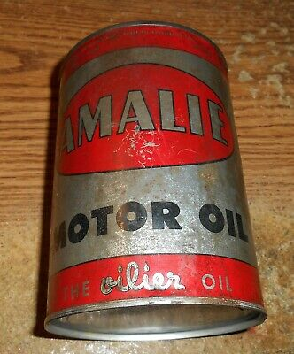Vintage Amalie Motor Oil One Quart Can/Full/Tough!