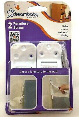 Child Safety FURNITURE STRAPS L199A  Earthquake Anti-Tip Secure 2 PACK NEW
