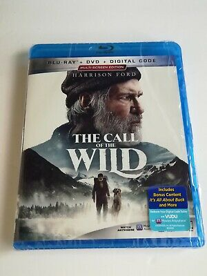 The Call of the Wild (Blu-ray and DVD, 2020) Harrison Ford, Disney - No Digital