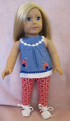 Ladybug Set fits American Girl Doll 18 Inch Clothes Seller lsful
