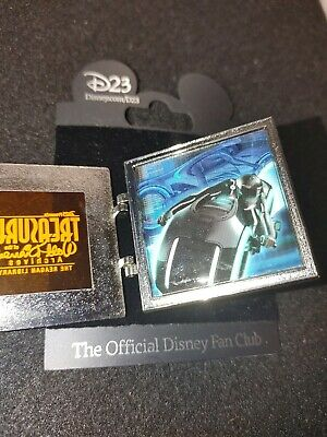 Disney Pin The Treasures Of Walt Disney Hinged Glass Tron Light Cycle Legend