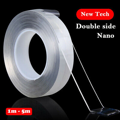 Nano Magic Tape Double sided Adhesive Acrylic Transparent No trace Reusable Tape